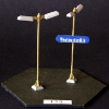 Webbed Base Double Light & Plaque